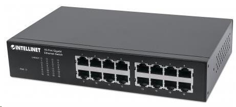 Intellinet 16-port Gigabit Ethernet Switch, 16x GbE, fanless