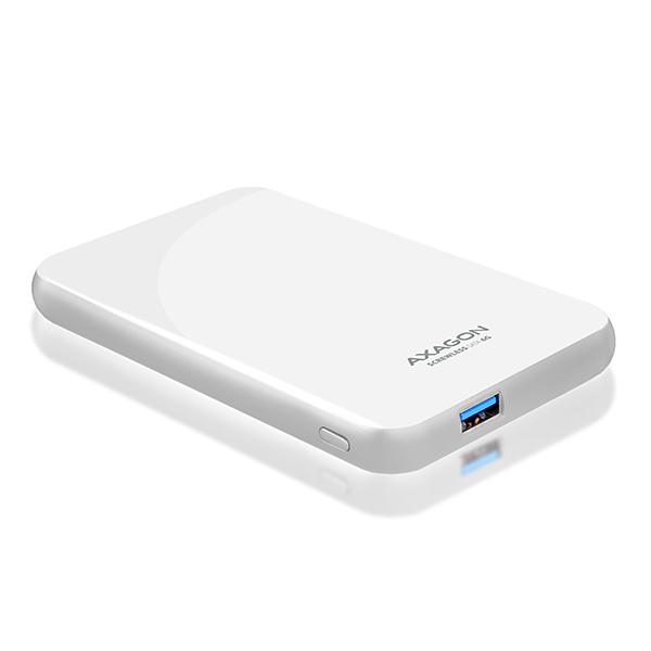"AXAGON EE25-S6, USB3.0 - SATA 6G, 2.5"" SCREWLESS externý box, biely"