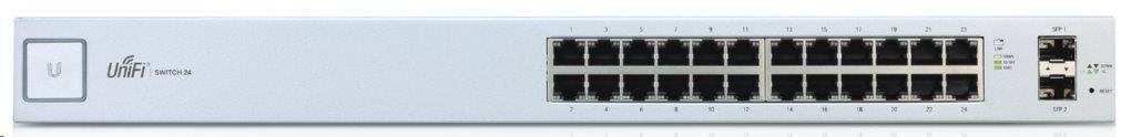 UBNT UniFi Switch US-24 [24xGigabit, ! bez PoE !, 2xSFP slot, non-blocking 26Gbps]