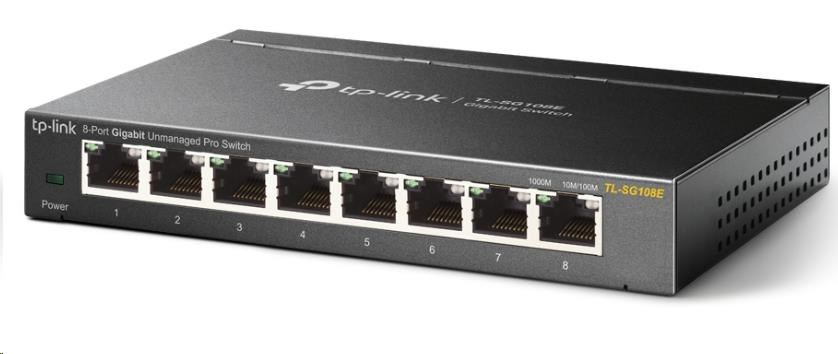 TP-Link TL-SG108E 8x10/100/1000 Desktop Easy Smart Switch, VLAN, QoS, IGMP