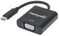 MANHATTAN převodník z USB-C 3.1 na VGA (Type-C Male to VGA Female, Black)