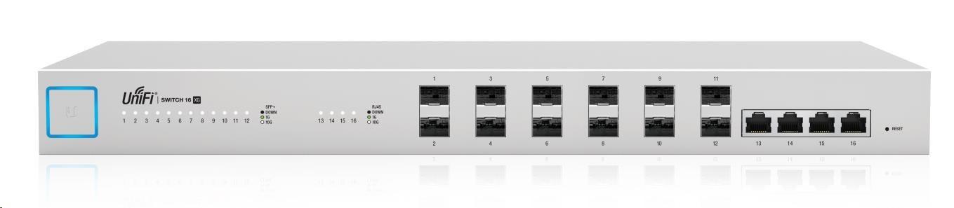 UBNT UniFi Switch US-16-XG [320Gbps, 4x10G Ethernet + 12xSFP+, L2/L3, redundatní napájení]