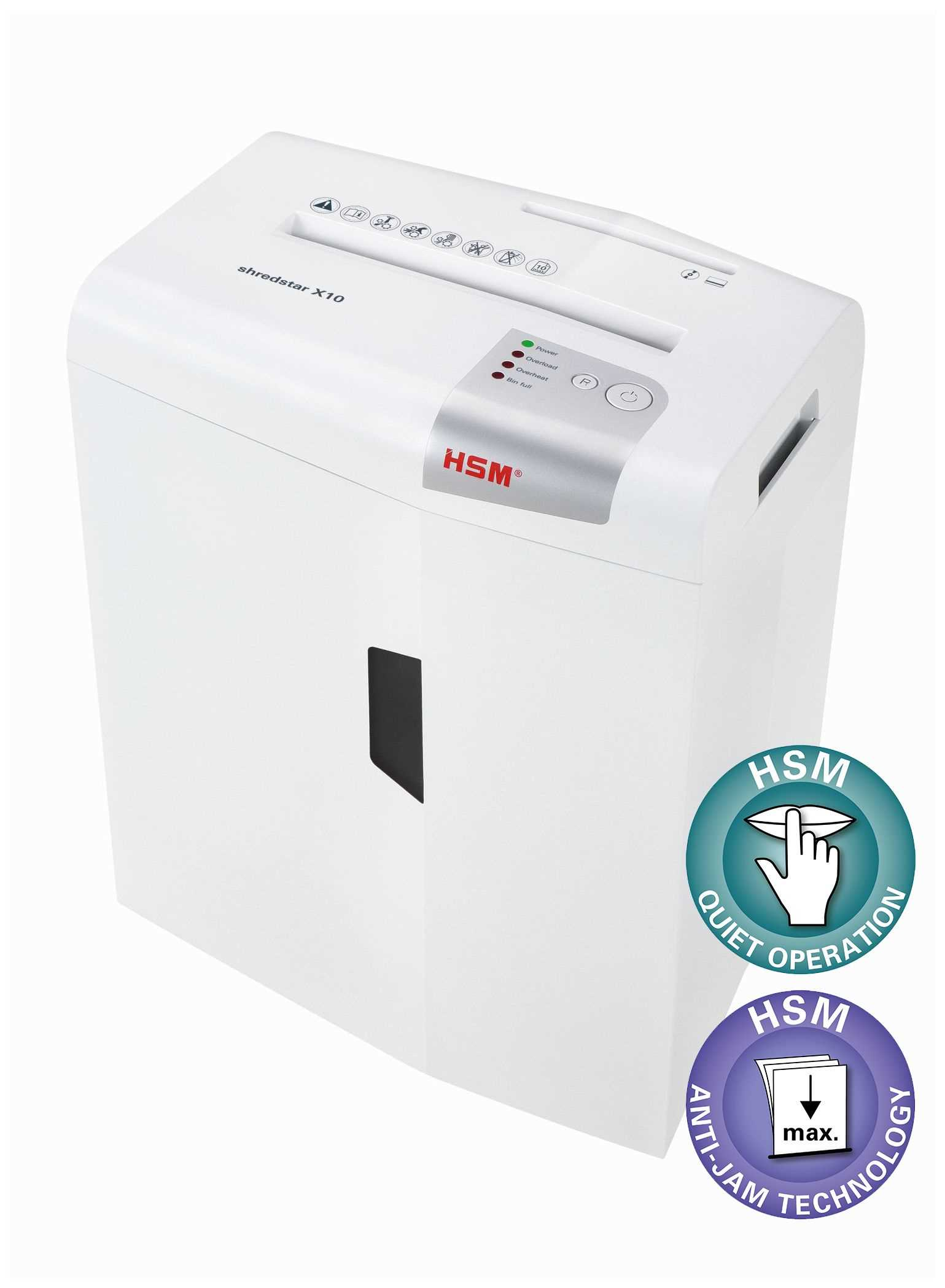 HSM skartovač ShredStar X10 White (velikost řezu 4,5x30mm, DIN 3)
