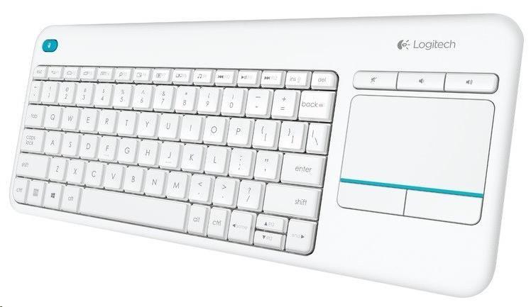 Logitech Wireless Keyboard Touch Plus K400 Plus, white, US