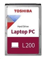 """TOSHIBA HDD L200 500GB, PMR, SATA III, 5400 rpm, 8MB cache, 2,5"""", 9,5mm, BULK"""