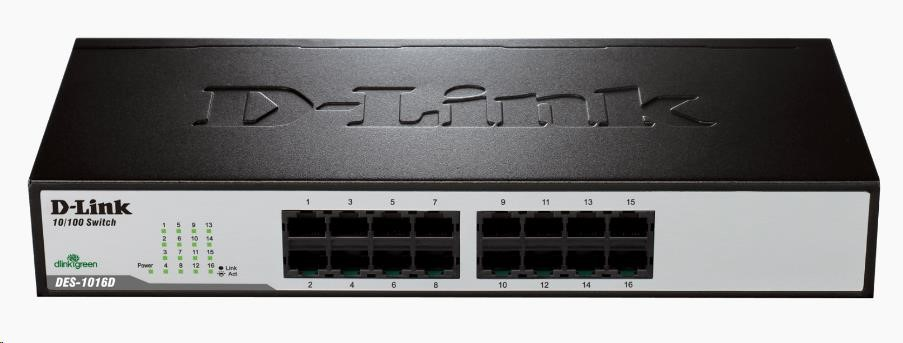D-Link DES-1016D 16-port 10/100 Desktop / Rackmount Switch